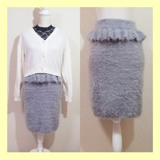EATME - タグ付き新品♡EATME イートミー ペプラムシャギーニットタイトスカート