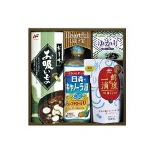 ニッシンショクヒン(日清食品)の日清 キャノーラ油&ヤマサ 鮮度の一滴しょうゆ&お吸い物&ゆかり詰め合わせ(調味料)
