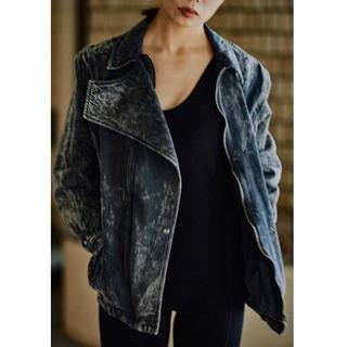★売切り★fumika uchida★ブラックデニムジャケット(Gジャン/デニムジャケット)