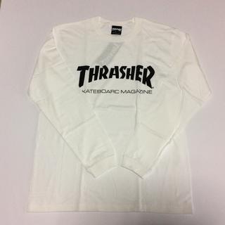 スラッシャー(THRASHER)のTHRASHER ロンTシャツホワイト Mサイズ スラッシャー スケボー(Tシャツ/カットソー(七分/長袖))