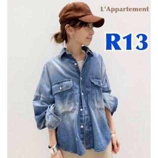 L'Appartement DEUXIEME CLASSE - 【R13/アールサーティーン】OVERSIZE DENIM SHIRT