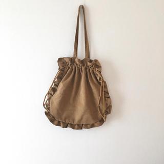 STUDIO CLIP - フリル巾着トートバッグ ナチュラル 巾着バッグ