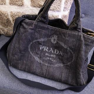 PRADA - 正規品☆プラダ 2wayバッグ カナパトート カナパ デニム バッグ 財布 小物