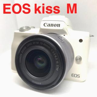 Canon - Canon EOS kiss  M レンズキット ホワイト★美品★