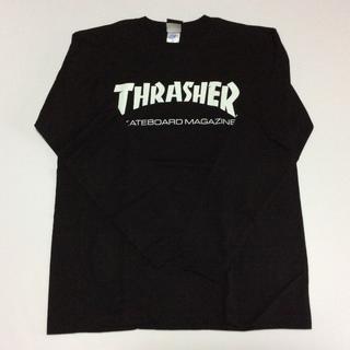 スラッシャー(THRASHER)のTHRASHER ロンTシャツブラック Lサイズ スラッシャー スケボー(Tシャツ/カットソー(七分/長袖))