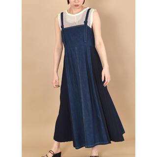 w closet - ダブルクローゼット デニム ジャンパースカート