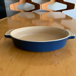 ルクルーゼ(LE CREUSET)のルクルーゼ オーバルディッシュ 24cm ブルー(食器)