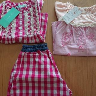スーリー(Souris)の女の子 夏物 セット(Tシャツ/カットソー)
