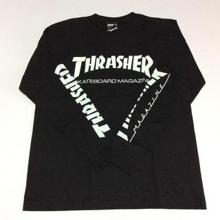 スラッシャー(THRASHER)のTHRASHER ロンTシャツ ブラック Mサイズ スラッシャー スケボー(Tシャツ/カットソー(七分/長袖))
