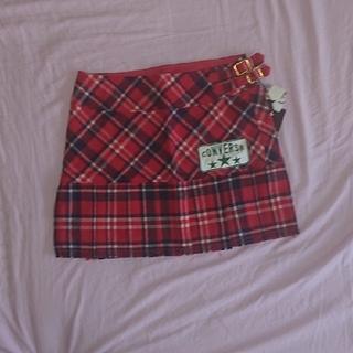 コンバース(CONVERSE)の新品タグ付き CONVERSE プリーツスカート(ミニスカート)