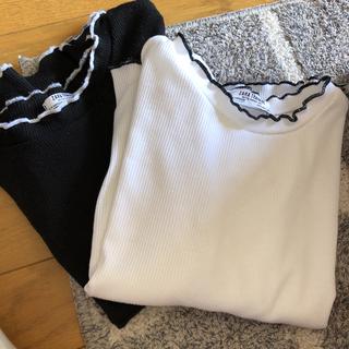 ZARA - ZARA TRAFALUC Tシャツ 2枚セット 白 黒