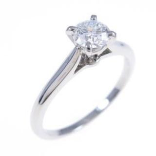 Cartier - カルティエ ダイヤモンドリング 一粒 プラチナ 最上級