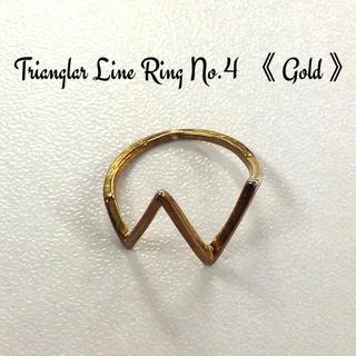✨レアアイテム✨三角ライン リング 《ゴールド》(リング(指輪))