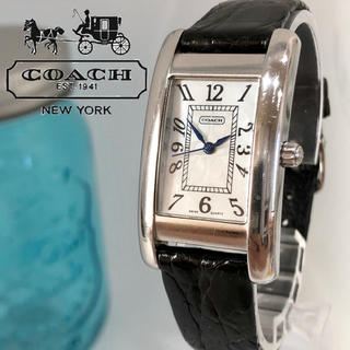 コーチ(COACH)の52 コーチ時計 レディース腕時計 新品電池 スクエア(腕時計)