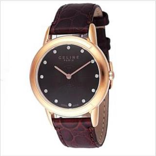 セリーヌ(celine)のCeline(セリーヌ) ダイヤ入り腕時計 LA CLASSIQUE Cブラウン(腕時計)