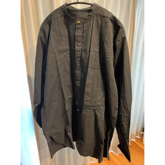 TODAYFUL(トゥデイフル)のTODAYFUL  Tuck Dress Shirts タック ドレス シャツ黒 レディースのトップス(シャツ/ブラウス(長袖/七分))の商品写真