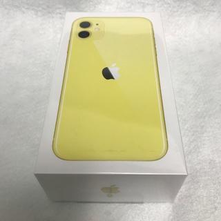 アイフォーン(iPhone)の【未開封/SIMフリー】iPhone11 256GB/イエロー★Apple版★ (スマートフォン本体)