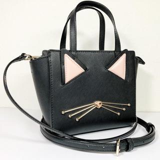 kate spade new york - 未使用品【ケイトスペード】猫・レザー2wayハンドバッグ