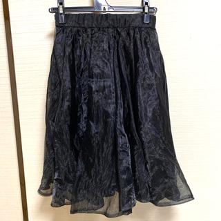 ココディール(COCO DEAL)のcocodeal オーガンジー チュールスカート(ひざ丈スカート)
