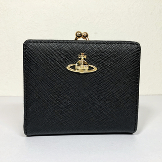 Vivienne Westwood - 未使用品【ヴィヴィアンウエストウッド 】レザー2折りがま口財布