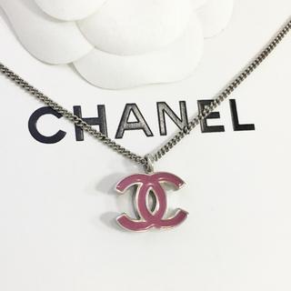 CHANEL - 正規品 シャネル ネックレス シルバー ココマーク 銀 ロゴ パープル 両面
