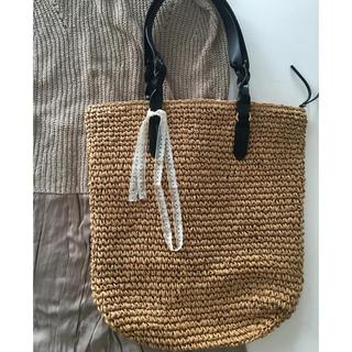 H&M - A. 未使用 フランス アンティーク リボン付き ビッグ バッグ かごバッグ