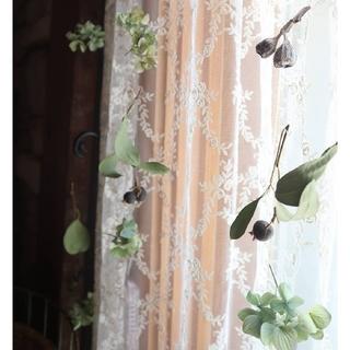 秋風に揺れる秋色紫陽花と木の実のmobile・ドライフラワーモビール。ガーランド(ドライフラワー)
