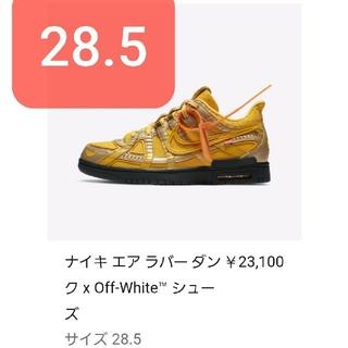 NIKE - オフホワイト × ナイキ エア ラバー ダンク 28.5cm