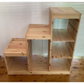 イケア(IKEA)のIKEA  イケア トロファスト収納棚+白ボックス3個(収納/チェスト)