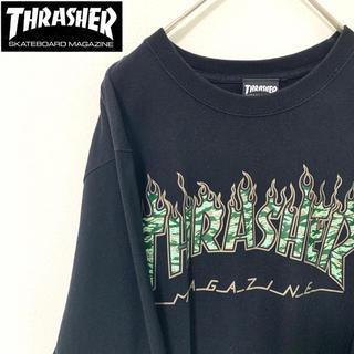 スラッシャー(THRASHER)の【人気!!】THRASHER ロングTシャツ(Tシャツ/カットソー(七分/長袖))