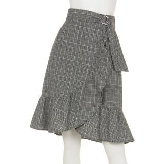ジャスグリッティー(JUSGLITTY)のジャスグリッティー  チェックフリルスカート(ひざ丈スカート)