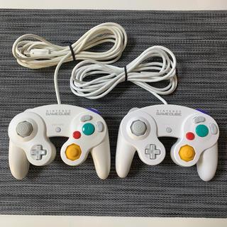 ニンテンドーゲームキューブ - 【美品】ゲームキューブコントローラー ホワイト 後期型 2個セット