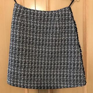 フォクシー(FOXEY)の美品 foxyフォクシー スカート ツイード 38(ひざ丈スカート)