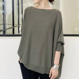 L'Appartement DEUXIEME CLASSE - L'AppartementB/N Volume Knit◇カーキ