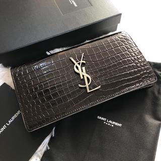 サンローラン(Saint Laurent)の美品 saintlaurent   イヴサンローラン 2つ折り 長財布(財布)