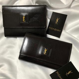 サンローラン(Saint Laurent)のysl ビンテージ 本革 財布 カードケース キーケース(財布)
