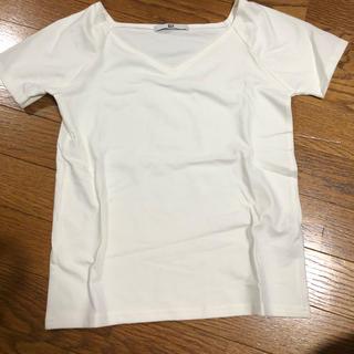 スライ(SLY)のSLY.Vネック、ホワイト、1.美品、Tシャツ(Tシャツ(半袖/袖なし))