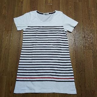 ショコラフィネローブ(chocol raffine robe)の半袖ボーダーロングTシャツ(Tシャツ(半袖/袖なし))