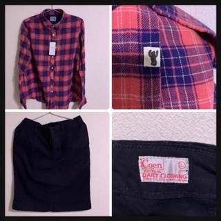コーエン(coen)のa003【美品】coenネルチェックシャツ+タイトストレッチスカート福袋バラ売り(セット/コーデ)