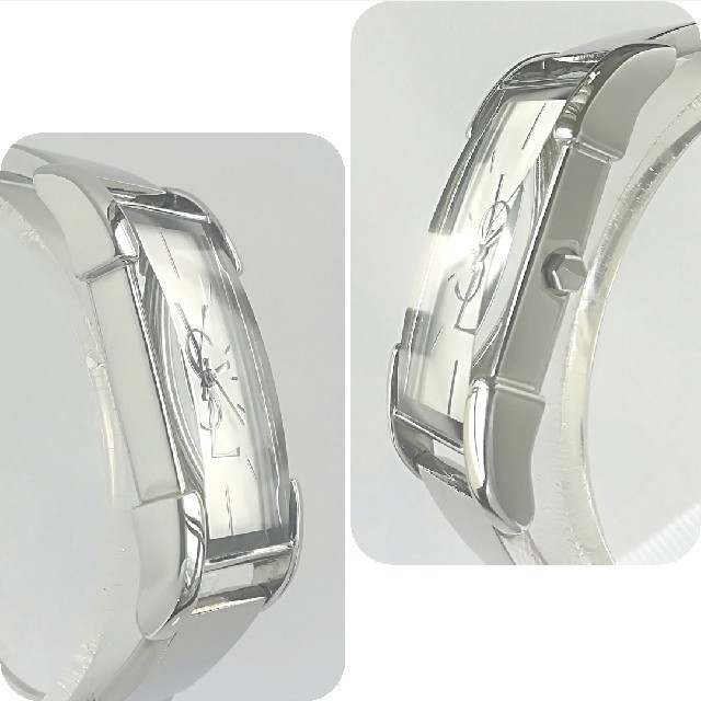 Saint Laurent(サンローラン)の綺麗 サンローラン 新品仕上げ シェル文字盤 腕時計 レディースウォッチ 極美品 レディースのファッション小物(腕時計)の商品写真