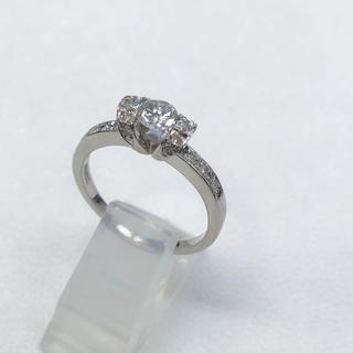 カルティエタイプ 美品❣️プラチナ900 ダイヤモンドリング 指輪(リング(指輪))