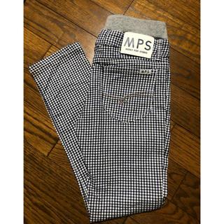 MPS - MPS  紺×白チェックパンツ 140 美品