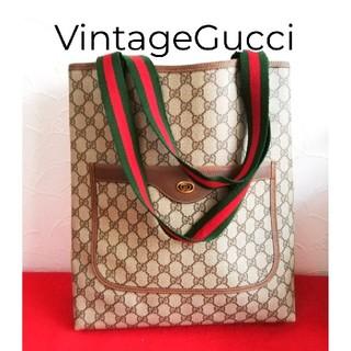 Gucci - 超美品 レア!Gucci グッチ シェリーライン トートバッグ ハンドバッグ希少