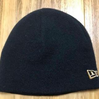 ニューエラー(NEW ERA)のニューエラ NEWERA  ニット帽 黒  未使用品 フリーサイズ(ニット帽/ビーニー)