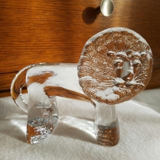 リサラーソン(Lisa Larson)のロイヤルクローナ コスタボダ ガラス ライオン Mサイズ Zoo リサラーソン (置物)