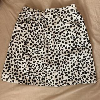 ウィゴー(WEGO)のWEGO 台形スカート ダルメシアン柄(ミニスカート)
