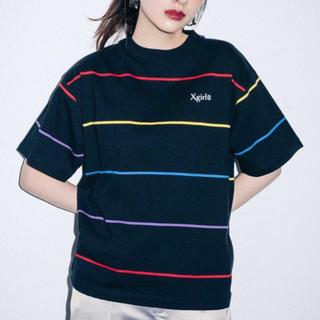 エックスガール(X-girl)のレインボーストライプTシャツ(Tシャツ(半袖/袖なし))