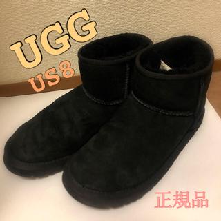 アグ(UGG)のUGG クラシックミニ ブラック US8 正規品 ムートンブーツ(ブーツ)