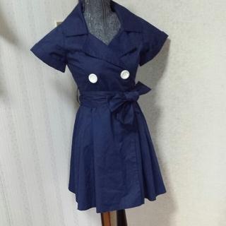 パウダーシュガー(POWDER SUGAR)の半袖コート!!!お取り置き品!(トレンチコート)