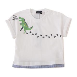 kladskap - クレードスコープ kladskap 恐竜 足跡 Tシャツ 110